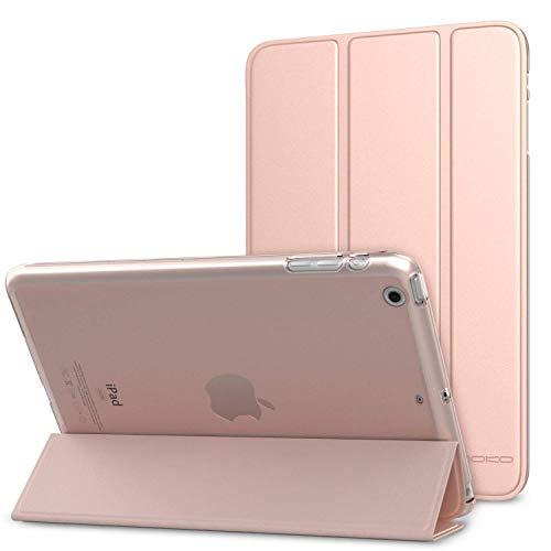 MoKo Schutzhülle für iPad Mini 3 / 2 / 1, schlankes Design, mit Standfunktion, mit durchscheinender matter Rückseite, für Apple iPad Mini 1 / Mini 2 / Mini 3, Roségold (mit automatischer Aufwach- / Schlafmodus)