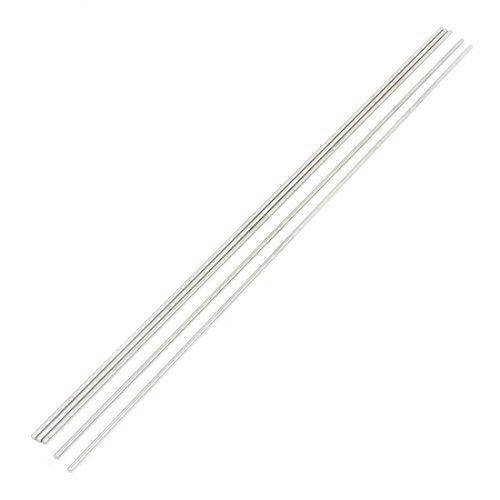Preisvergleich Produktbild Fernregler RC Model 300mm x 3mm Edelstahl Metall rund Stab Stange 5 Stücke de