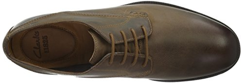 Clarks Brocton Walk, Derby Homme Marron (Tan)
