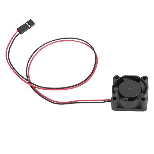 Alomejor Motorkühlung Fan, RC Modell Auto Elektrische Einstellbare Micro Lüfter Single Mini Fan Control Auto Elektronische Geschwindigkeit Motor(【A】 25x25x10 小号) -