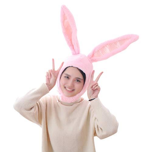Coaplay Kostüm - Amosfun Hase Ohr Hut Kaninchen Kostüm Headwear Plüsch Tier Ohr Hut Stirnband für Frauen Mädchen (Pink)