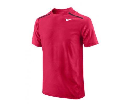 NIKE Contemporary Athlete Maglietta da Tennis Terra Battuta Junior, Rosso, 8-10/S anni