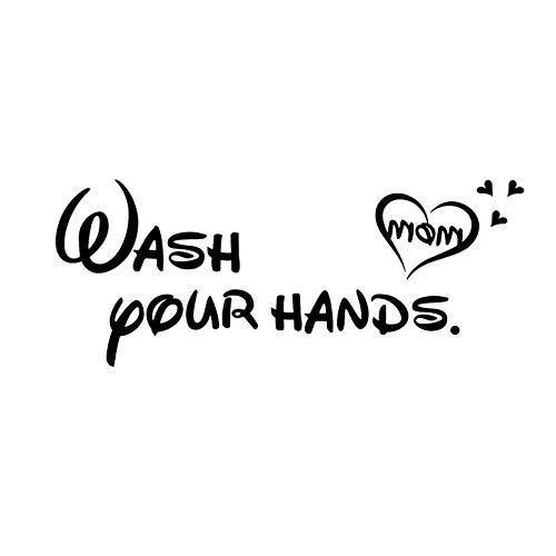 Creative Wash Your Hands Etiqueta De La Pared Para
