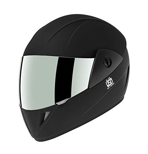Gliders Jazz DX Full Face Helmet (Matte Black, Clear Visor, 580mm)
