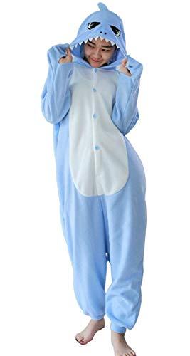 (Erwachsene Tier Schlafanzug Kigurumi Pyjamas Cosplay Kostüm Overall Animal Sleepwear Hai S)