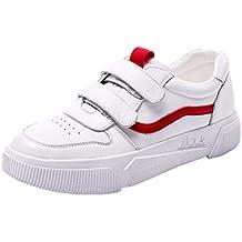 Zapatos De Mujer Suave Cuero Real Plano Suela De Caucho Hebilla Velcro Bajo El Talón Platform