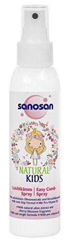 sanosan NATURAL KIDS Leichtkamm Spray für Mädchen, Haarpflegespray für Kinder, 6er Pack (6 x 125 ml)