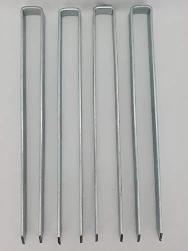 KUHEIGA 4 x Bodenanker für Rosenbogen Blumenhilfe Obelisk und mehr!