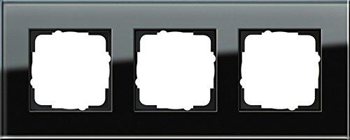 Gira 021305 Rahmen 3-fach Esprit Glas, schwarz