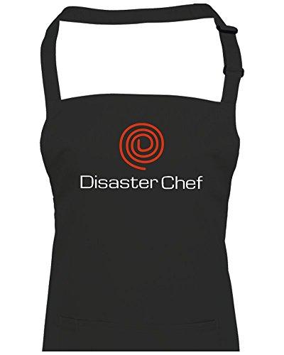 FatCuckoo Disaster Chef- Funny TV Chef Competition parodie Spoof- Unisexe Tablier de cuisine à partir de, noir, Taille Unique
