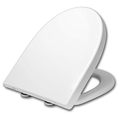 WOLTU WS2874 Toilettendeckel WC Deckel Sitz Absenkautomatik, Duroplast, Fast Fix/Schnellbefestigung, Softclose Scharnier, Antibakteriell