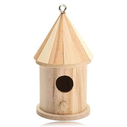 2018 Nest DOX Nest Maison Maison des Oiseaux, Bird's House boîte à Oiseaux Bird Box boîte en Bois pour Oiseaux (Kaki 6)