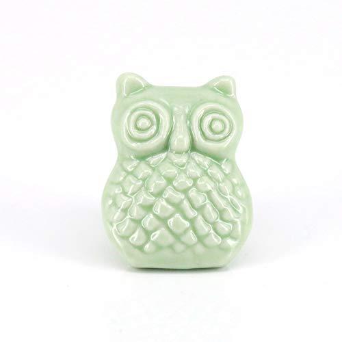 Schrank Schublade Keramikknopf zieht Möbel Griff Knopf Kinder Kommode zieht hellgrünen Kleiderschrank Knob ()