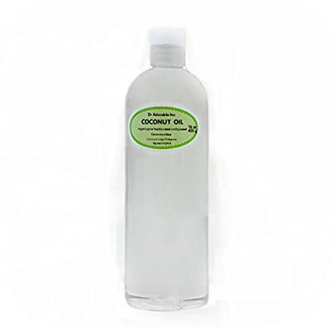 Organic Pure Carrier Oils Cold Pressed 16 Oz/1 Pint (Coconut
