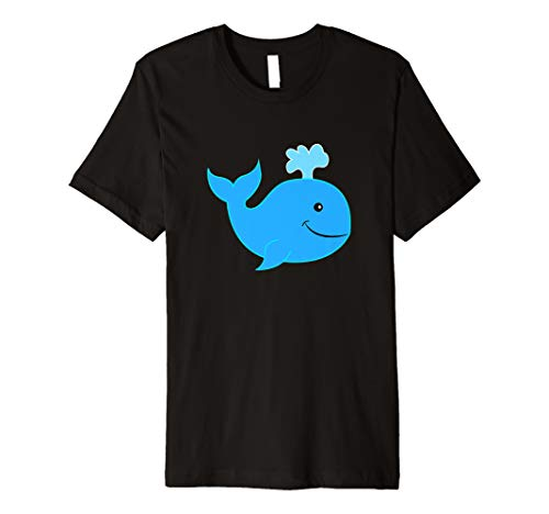 T-Shirt mit süßem Wal für Kinder Mädchen Jungen Damen Herren