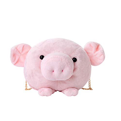 NBRTT Niedliche Pig Plush Girl Chain Crossbody Bags Funny Small Bag Shoulder Rucksack Children Baby...