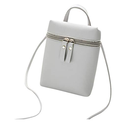 Zegeey femme cuir sacs portés main mini bandoulière baguette avec chaîne métallique sac à messager en de couleur anneau couture mode princesse fourre pochette métal épaule jeune chic et tendance