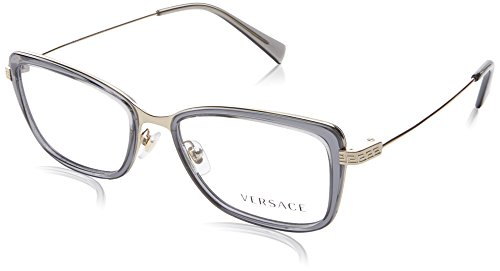 New Versace VE 1218 1345/ Gold Frame Men Women Oval Metal Eyeglasses
