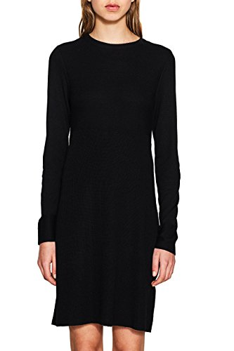 edc by ESPRIT Damen Kleid 997CC1E808, Schwarz (Black 001), Small