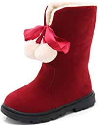 5e6b5c6a4 Niñas Botas de Nieve de Invierno Botas de Peluche de Felpa cálida Botas de Moda  a