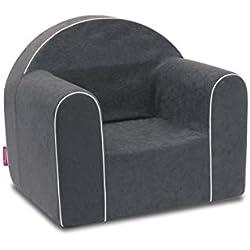 Mini Fauteuil enfant enfants Baby Fauteuil Fauteuil canapé chaise Chaise pour enfant mousse écologique (Gris)