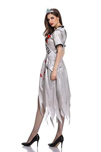 Simmia Halloween Kostüm,Halloween Kostüm Braut Zombie cos Cosplay Make-up Persönlichkeit ist Anders, 1871, M