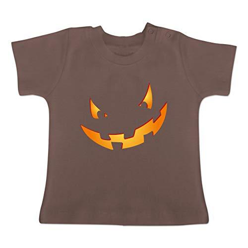 Anlässe Baby - Kürbisgesicht klein Pumpkin - 18-24 Monate - Braun - BZ02 - Baby T-Shirt Kurzarm (1 2019 Halloween Pt)