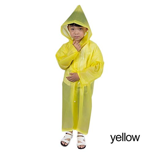 YUELANG New Waterproof Kids Portable Reusable Raincoats Children 6-12 Years Old Rain Ponchos Coat Rainwear Rainsuit Student Poncho