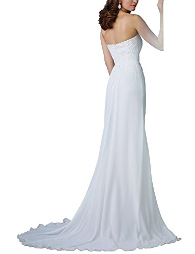 JYDress - Robe - Femme Blanc Blanc White-A