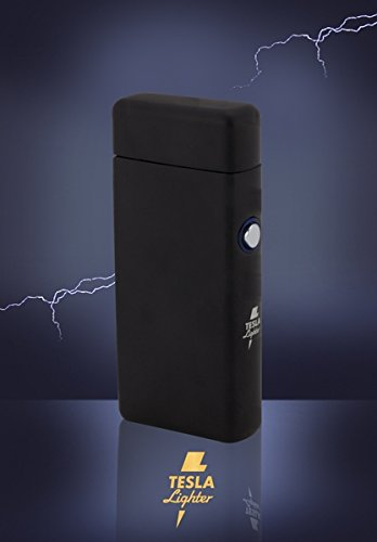 Tesla Lighter T08 Lichtbogen Feuerzeug USB Feuerzeug Arc Lighter elektronisches Feuerzeug wiederaufladbar Double-Arc Schwarz matt - 3