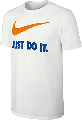 Nike Damen Tennis Shorts Border, Herren, Blanc/orange/bleu ROI, S