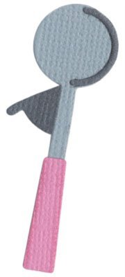 We R Memory Keepers 2-Inch by 2-Inch Die, Ice Cream Scoop by QUICKUTZ