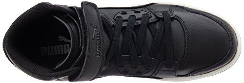 Puma Rebound Street L, Baskets Basses Mixte Adulte Noir (Black-black 02)