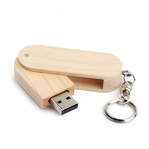 USB-Stick Flash Drive HöLzern U-Scheibe Drehen 4/8/16/32 / 64GB HochgeschwindigkeitsüBertragung 64 * 20 * 12 Mm Klein Und Tragbar Computer Auto Klingen (8GB)