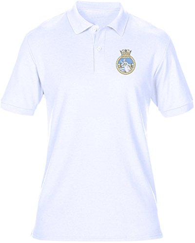 HMS Dartmouth Embroidered Logo - Official Royal Navy Mens Polo Shirt By Military Online