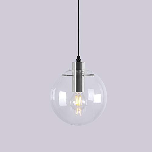 CHUNGUANG Nordic Kreative Schmiedeeisen Glas Anhänger Leuchten Sphärische, LED Einstellbare Mini Art Deco Decke Hängelampe Moderne Studie Wohnzimmer Schlafzimmer Veranda Hofbeleuchtung E27 (Deco Decken-leuchte Art)