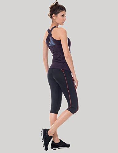 SYROKAN Damen Leggings Sport Strumpfhose – Capri Pants Laufhose - 6