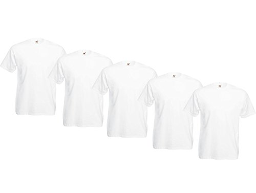 Fruit of the Loom Original Valueweight T Rundhals T-Shirt F140 5er Pack