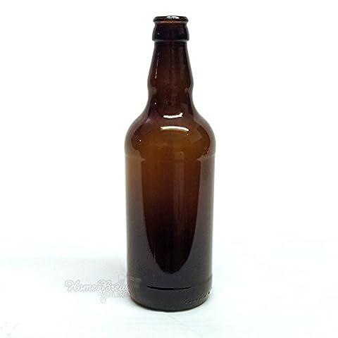 Brown Glass Beer Bottles 500ml (12
