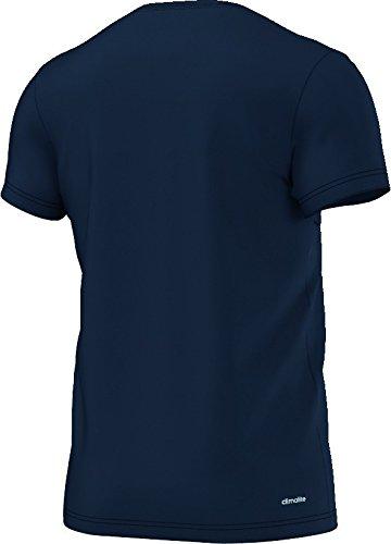 adidas Herren Essentials Linear T-Shirt Dunkelblau/Gelb