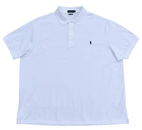 Ralph Lauren Big & Tall Poloshirt Polo Stretch Mesh Short Sleeve Weiß Größe 3XB (Poloshirt Tall Big Herren)