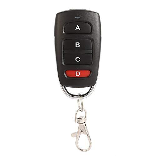 WOSOSYEYO-Copia-Universal-433-MHz-Inalmbrico-Metal-4-Llaves-Puerta-de-Garaje-Duplicador-Control-Remoto-Mini-Porttil-DC-12V-27A-Controlador-de-Llavero