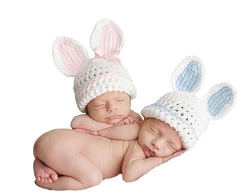 �dchen häkeln Kostüm Outfits Fotografie Requisiten Cute Brothers Sisters Twins Hat 0-3 Monate ()