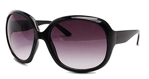 ASVP-Shop-New-Womens-Fashion-Sunglasses-with-Stylish-Large-Frame-Round-VintageRetro-70s-Design-and-100-UV400-Protection-in-Black-Frame-with-Purple-Lenses