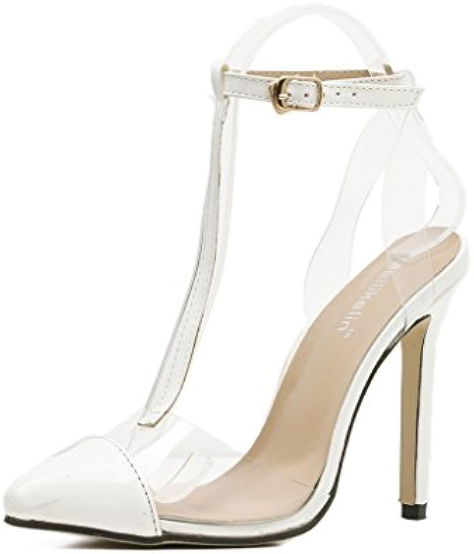 f1b40172d5e3b1 aluk les chaussures de femme l'europe et les les les États unis  transparents sexy talons (couleur: blanc, taille:...b07bbp6fzr parent |  Shopping Online ...