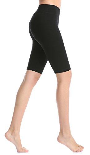 Shorts de yoga taille haute pour femme, Short de course à genouillère, Shorts de sport d'été shorts d'exercice- ABUSA A00158 Short d'entraînement élastique et doux ,Shorts courts de gymnastique en coton