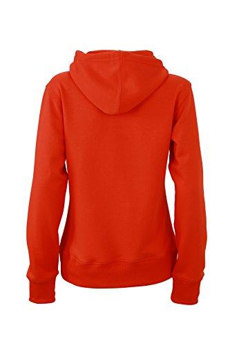 James & Nicholson Herren Hooded Sweat Sweatshirt Rot (Grenadine)