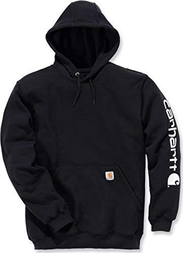 Carhartt Midweight Signature Sleeve Logo Hooded Sweatshirt - Kapuzenpullover (M, schwarz) Carhartt Logo Hooded Pullover Sweatshirt