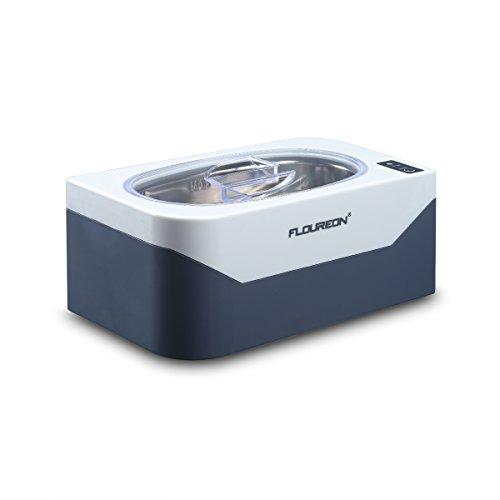 Floureon Ultraschallreiniger Ultraschallreinigungsgerät Ultraschallgerät für Brillen, Ketten, Ohrringen, Zahnersatz Edelstahl Ultraschallbad 400ml