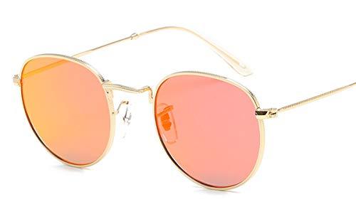 Wikibird Sonnenbrillen Steampunk Fahrradbrille Mädchen Oversized Lässige Brille Metallrahmen Anti-Strahlung Brillen Dekogläser Runde Verspiegelt